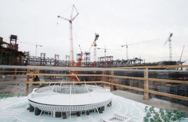 Строительство стадиона Зенит в Санкт-Петербурге