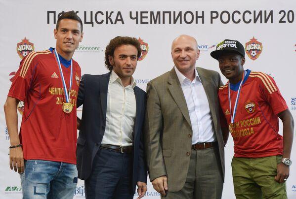 Георги Миланов, Роман Бабаев, Сергей Чебан и Ахмед Муса (слева направо)