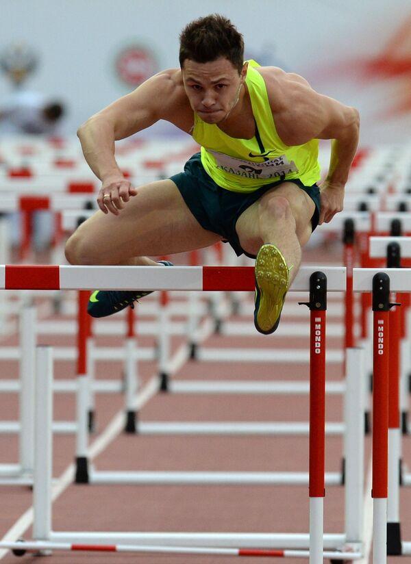 Константин Шабанов - победитель в беге на 110 метров с барьерами