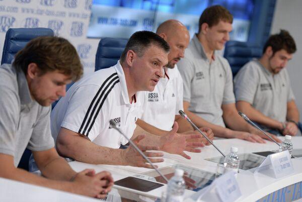 Баскетбол. Пресс-конференция мужской сборной России