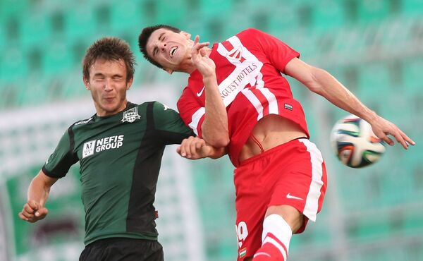 Игровой момент матча Краснодар - Диошдьёр