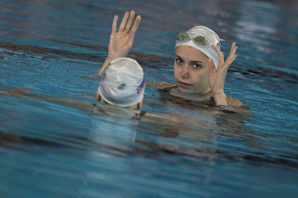 Дарья Коробова на тренировке