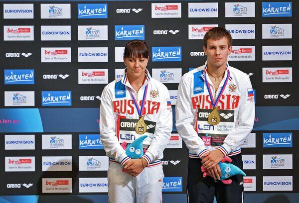 Российские спортсмены Виктор Минибаев и Надежда Бажина