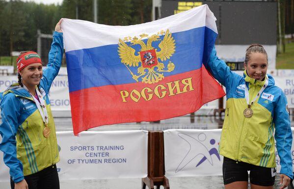 Кристина Ильченко (Россия) - золотая медаль, Ульяна Кайшева (Россия) - бронзовая медаль.