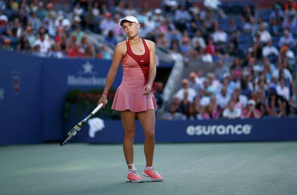 Каролина Возняцки в финальном матче US Open