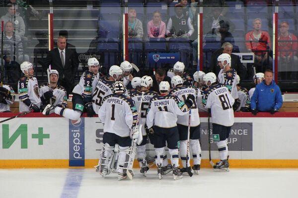 Хоккеисты клуба Сочи вместе с Вячеславом Буцаевым