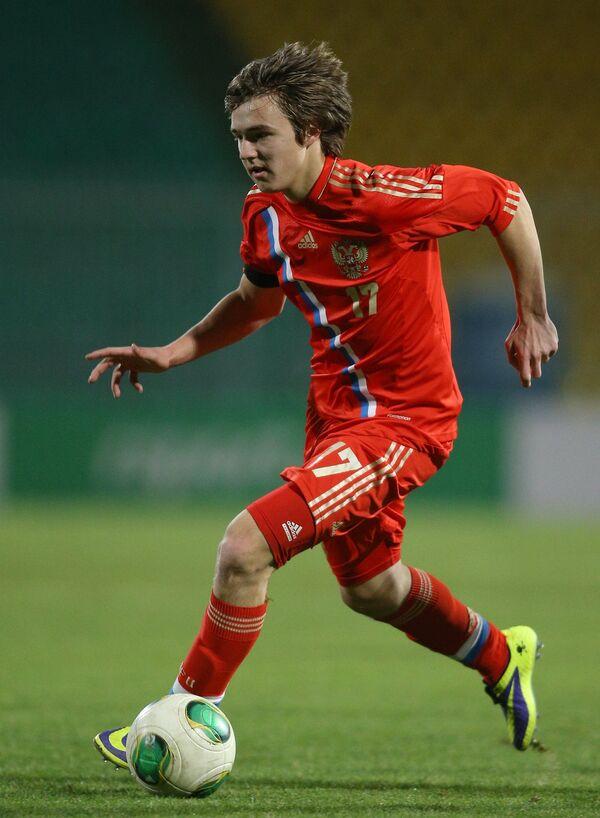 Нападающий сборной России Денис Давыдов