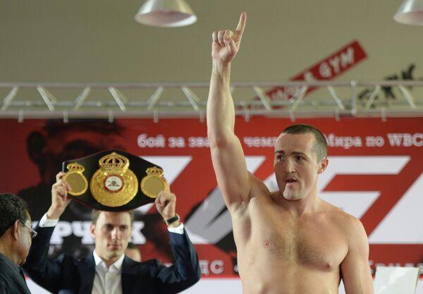 Чемпион мира по версии WBA Денис Лебедев