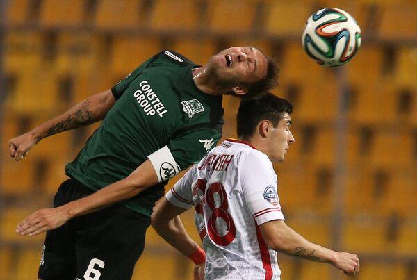 Игровой момент матча Краснодар - Арсенал