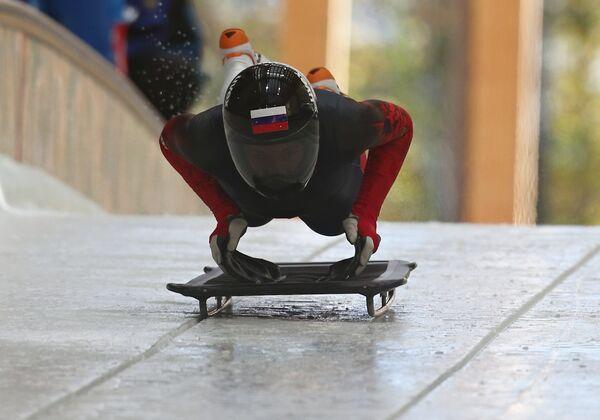 Мария Орлова на чемпионате России по скелетону