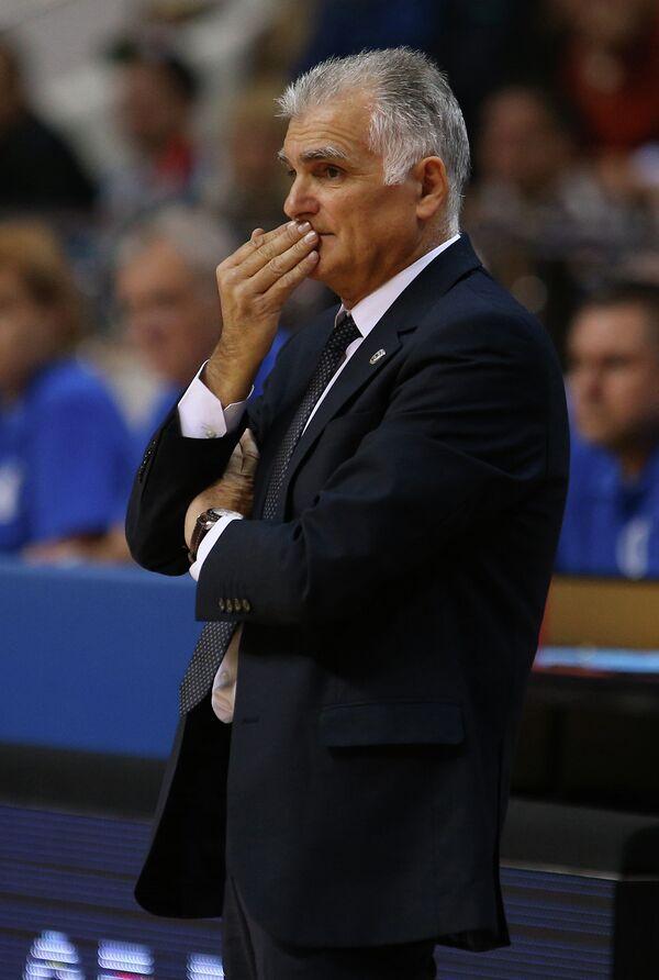 Главный тренер баскетбольного клуба ПАОК Анастасиос Маркопулос