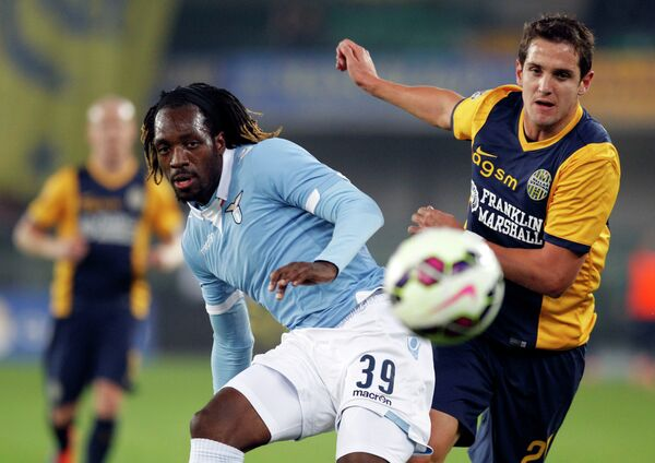 Игровой момент матча Верона - Лацио