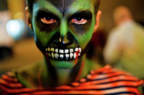 Участник праздника Хэллоуин