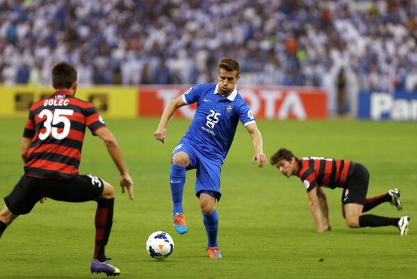 Игровой момент матча Вестерн Сидней Уондерерс - Аль-Хиляль