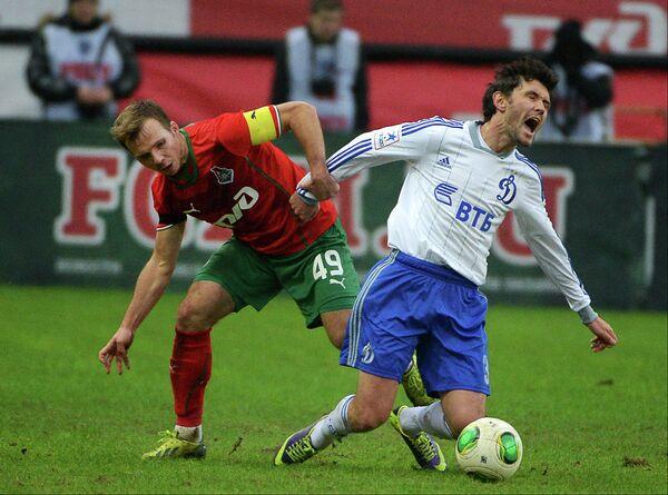 Игровой момент матча Локомотив - Динамо