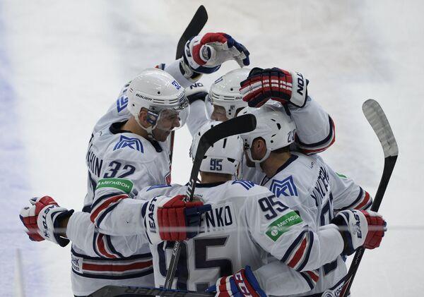Игровой момент матча СКА - Металлург (Магнитогорск)