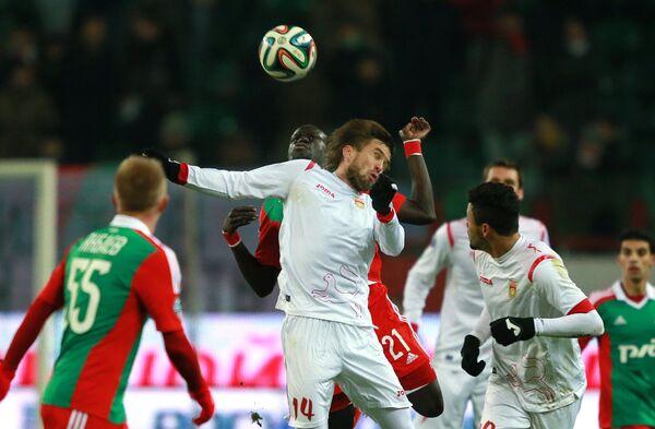Игровой момент матча Локомотив - Уфа