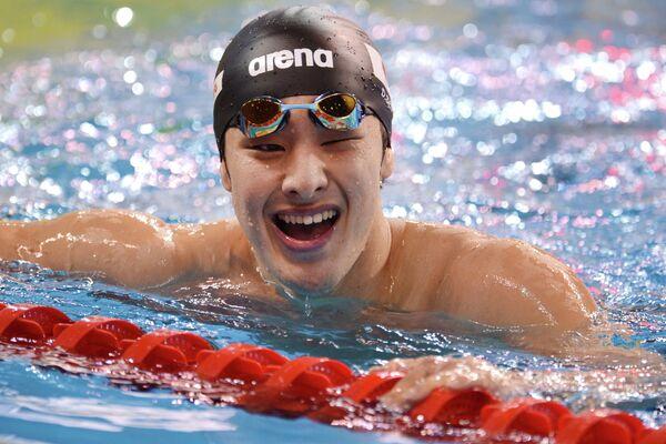 Дайя Сето (Япония), занявший первое место на дистанции 400 метров комплекс
