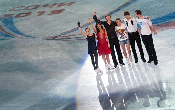 Участники показательных выступлений на чемпионате России по фигурному катанию в Сочи