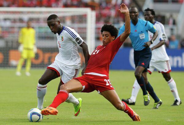 Игровой момент матча Экваториальная Гвинея - Конго