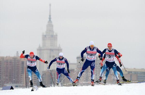Российские спортсмены Никита Крюков, Иван Анисимов, Михаил Девятьяров, Евгений Дук, Антон Гафаров (справа налево)