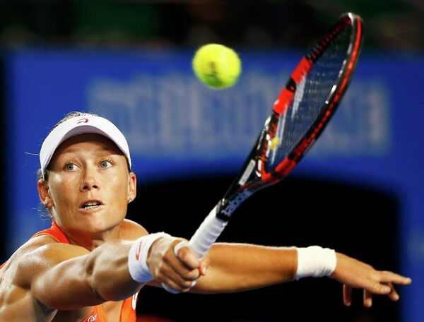 Саманта Стосур в матче второго круга Australian Open