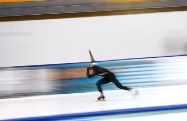 Андрей Гусев на чемпионате России по конькобежному спорту