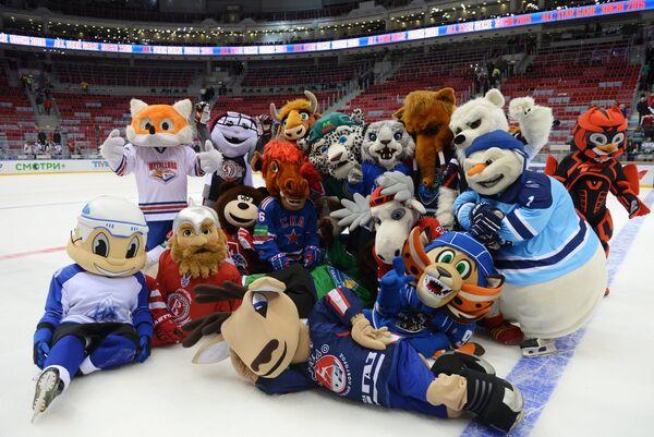 Талисманы команд Континентальной хоккейной лиги (КХЛ)