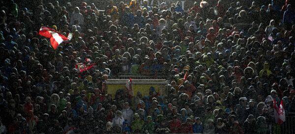 Болельщики на этапе Кубка мира в австрийском Шладминге