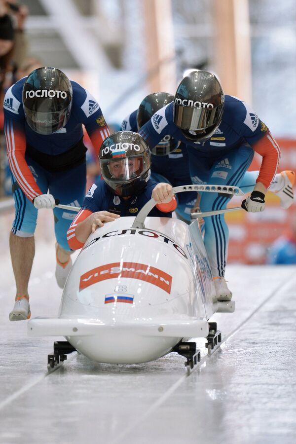 Александр Касьянов, Ильвир Хузин, Алексей Пушкарев и Алексей Зайцев (Россия)