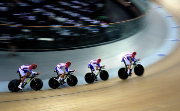Российские велогонщики на чемпионате мира по велоспорту на треке