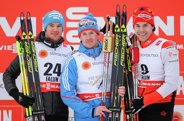 Дарио Колонья, Максим Вылегжанин и Алекс Харви (слева направо)