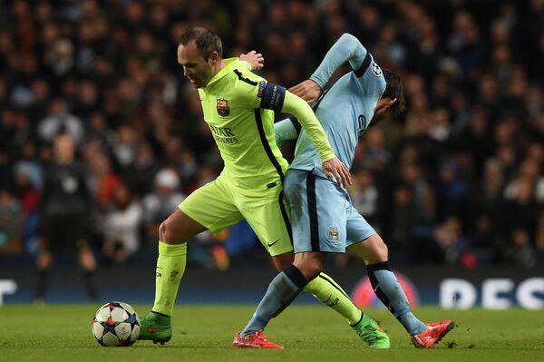 Матч Лиги чемпионов между Барселоной и Манчестер Сити