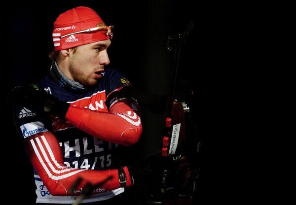 Антон Шипулин (Россия) на тренировке