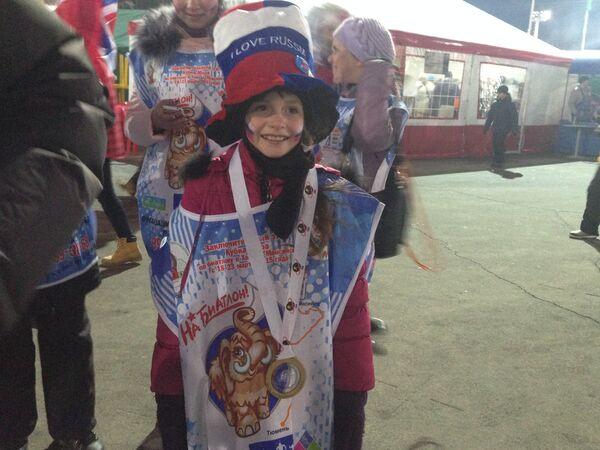 Болельщица сборной России по биатлону