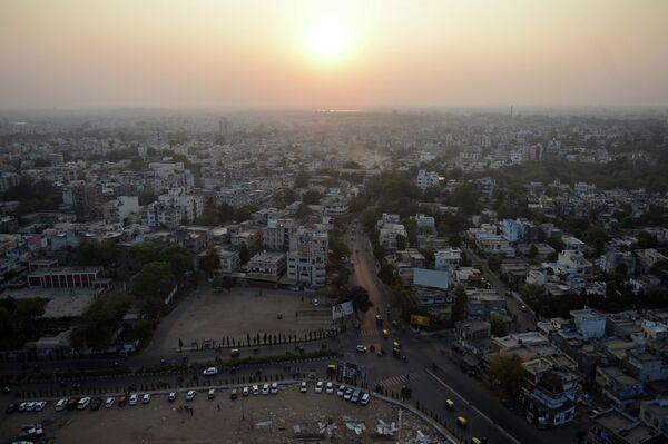 Индийский город Ахмадабад на закате