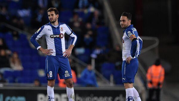 Футболисты Эспаньола Кристиан Стуани и Серхио Гарсия