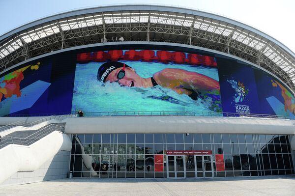 Подготовка стадиона Казань Арена к чемпионату мира по водным видам спорта