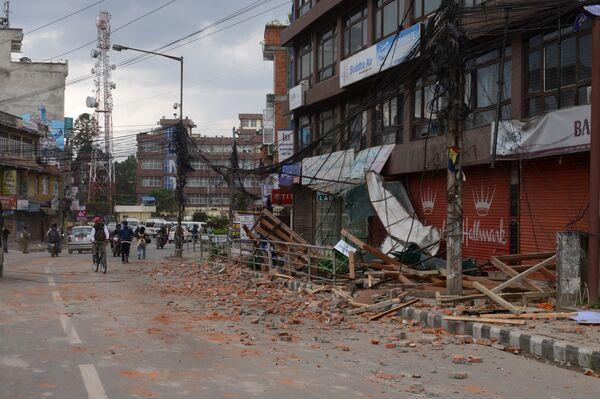 Землетрясение в столице Непала Катманду
