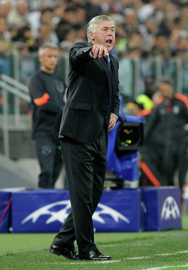 Главный тренер мадридского Реала Карло Анчелотти
