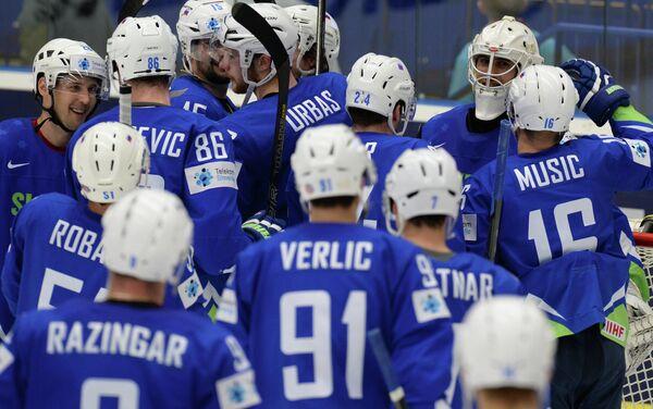 Хоккеисты сборной Словении по хоккею
