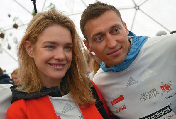Наталья Водянова и Александр Легков