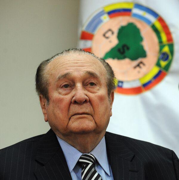 Бывший президент Южноамериканской конфедерации футбола (КОНМЕБОЛ) Николас Леос