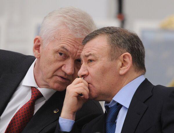 Геннадий Тимченко (слева) и Аркадий Ротенберг