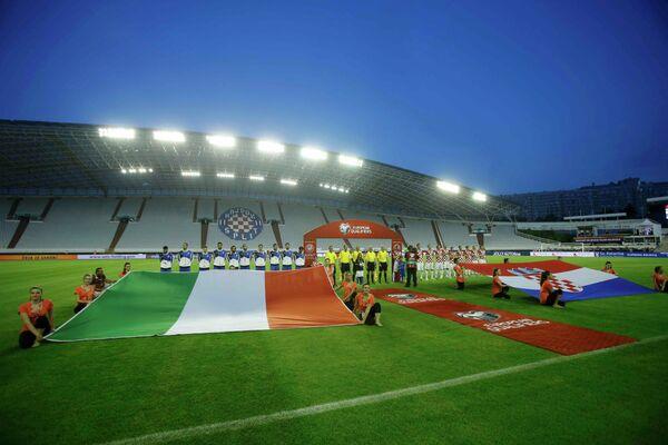 Матч отборочного турнира чемпионата Европы по футболу 2016 года между сборными Хорватии и Италии