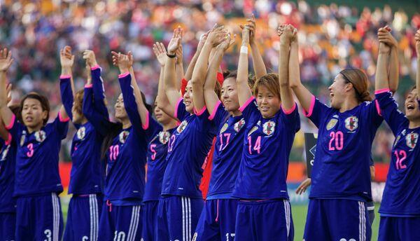 Футболистки сборной Японии