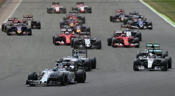 Эпизод Гран-при Великобритании-2015 в классе машин Формула-1
