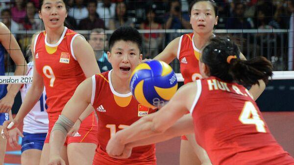 Капитан женской сборной Китая по волейболу Хуэй Жоци (№4)