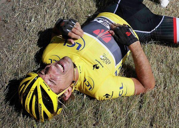 Швейцарский велогонщик Trek Factory Racing Фабиан Канчеллара