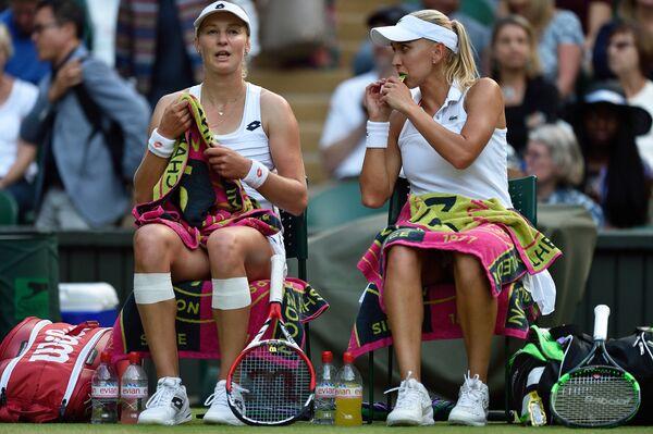 Слева направо: Екатерина Макарова и Елена Веснина (Россия)